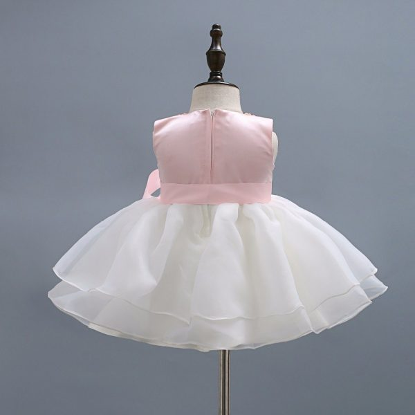 Pink Necklace Ball Gown Baby Girl Dress 1