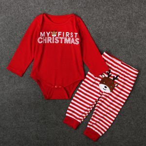 My First Christmas Long Sleeved Baby Set