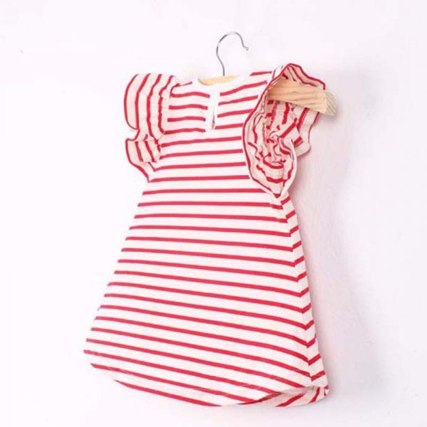 Striped Bowknot Baby Girl Dress 1
