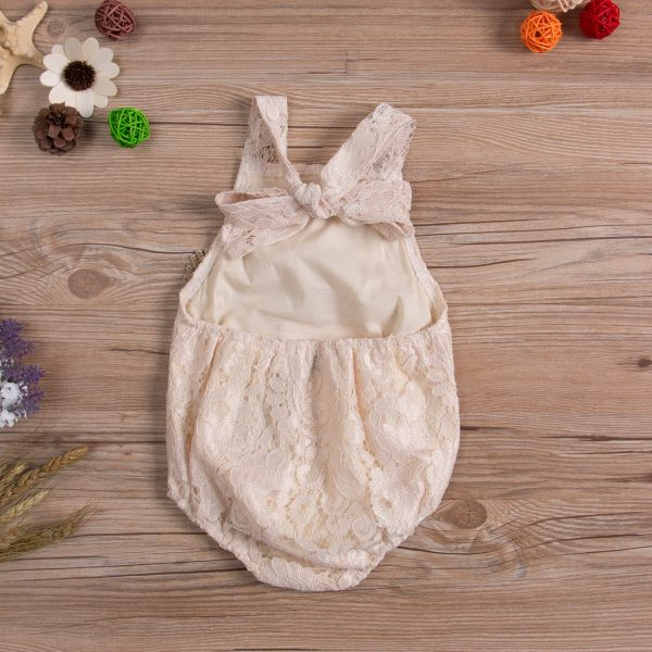Backless Lace Sleeveless Baby Girl Romper 2