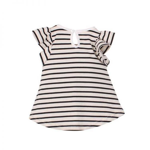 Striped Bowknot Baby Girl Dress 3