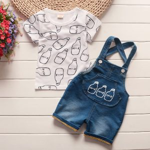 Overalls Shorts Baby Set