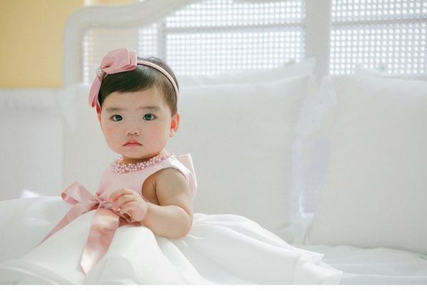 Pink Necklace Ball Gown Baby Girl Dress 4