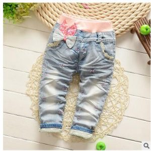 Soft Jeans Baby Girl Pants