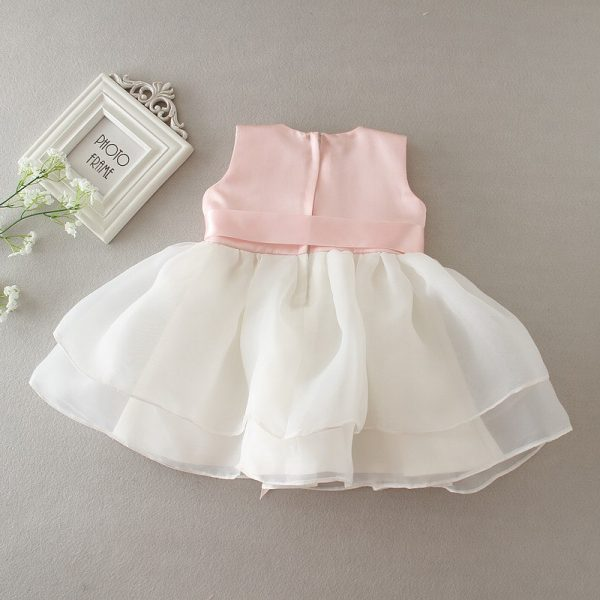 Pink Necklace Ball Gown Baby Girl Dress 3