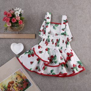 Strawberry Tutu Baby Girl Dress