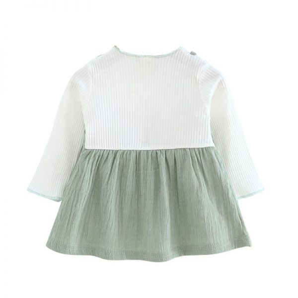 Bow Patchwork Baby Girl Dress 2