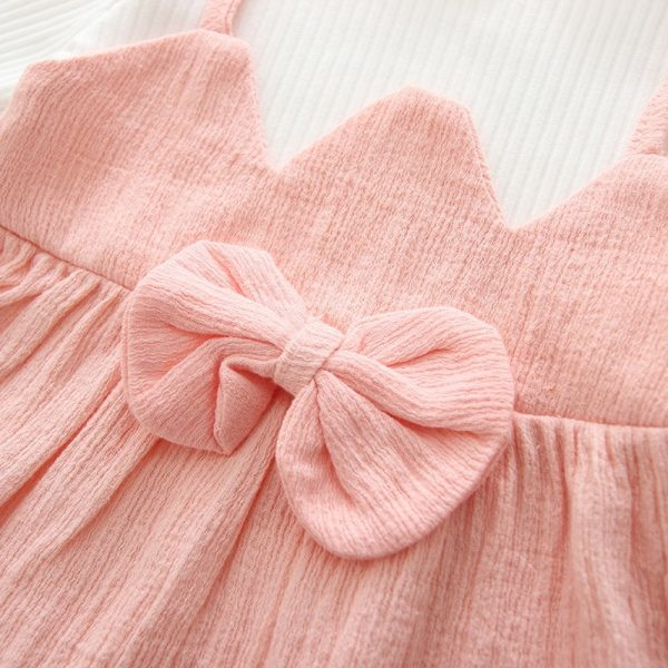 Bow Patchwork Baby Girl Dress 5