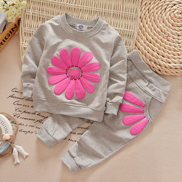 Autumn Floral Winter Baby Girl Set