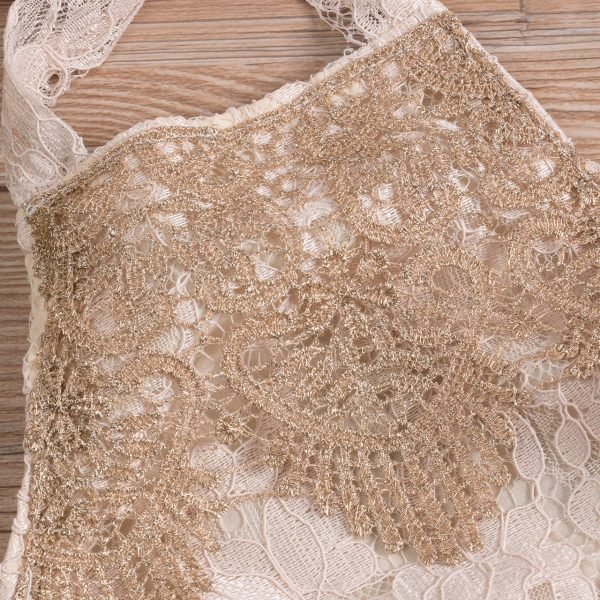 Backless Lace Sleeveless Baby Girl Romper 3
