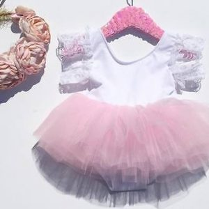 Lace Flower Sleeve Baby Girl Dress